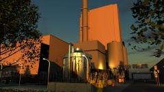 発電所のCG作例