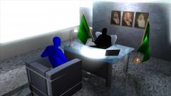 会議室での事件再現CG