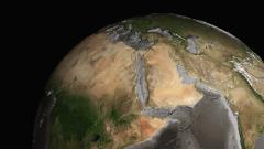 地学CG(地球の海溝と海嶺)の作例
