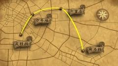 テレビ番組用デザイン地図CGの作例
