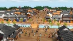 江戸時代の架空の街の景色(歴史CGの作例)