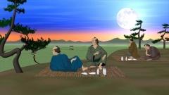 関東平野を眺める江戸時代の町人の暮らし(歴史CGの作例)