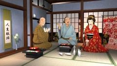 江戸時代の遊郭のCG動画から作例(歴史CGの作例)