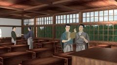 明治時代の学校の教室をCGで再現(歴史CGの作例)