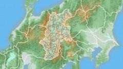 日本地図CGの作例