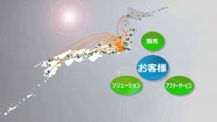 会社案内映像の日本地図CG作例