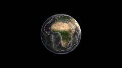 地球の海溝と海嶺がわかるネイキッドCG画像