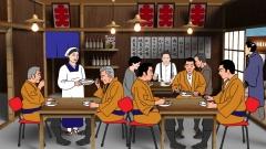 歴史時代CG作例、大衆食堂の様子をCGで。