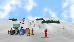 歴史時代CG作例。私をスキーに連れてって。
