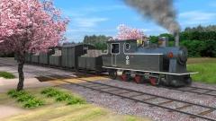 歴史番組CG作例(機関車)
