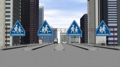 クイズ問題CG作例(交通標識)