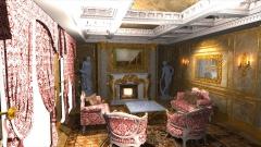 お城の貴賓室、歴史CGの作例