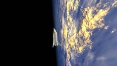 スペースシャトルの地球のイメージCG画像