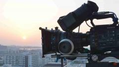 4Kデジタルシネマカメラによる風景撮影の様子、映像制作現場の様子