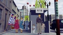 歴史イラストの作例、昭和初期の銀座の様子