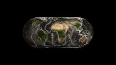 地殻と海嶺海溝イメージCG展開図