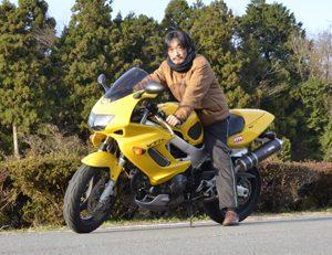 奧山とバイク