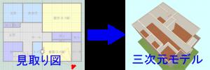 見取り図から立体に構築するソフトを活用して素早い建築CG制作