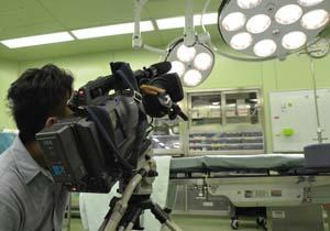 手術室の撮影