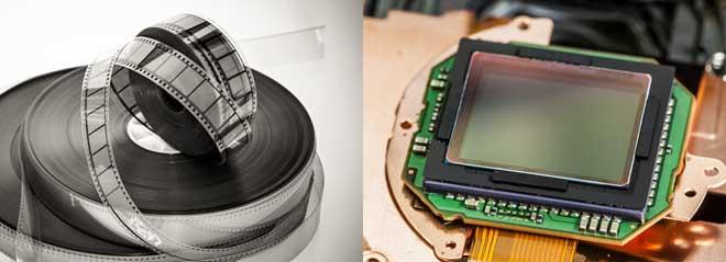 フィルム対電子撮像素子