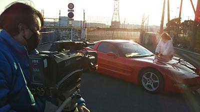 自動車メディア撮影風景
