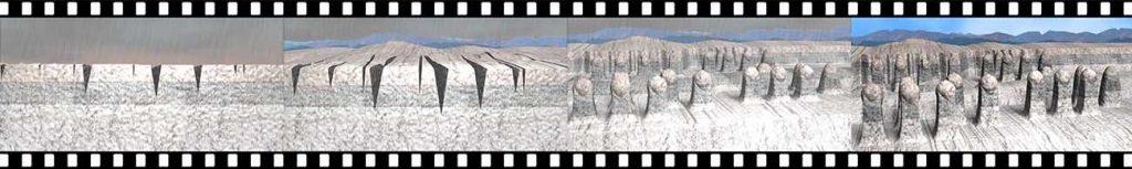 ホワイトバレーの浸食をたった10秒で見せるイメージ